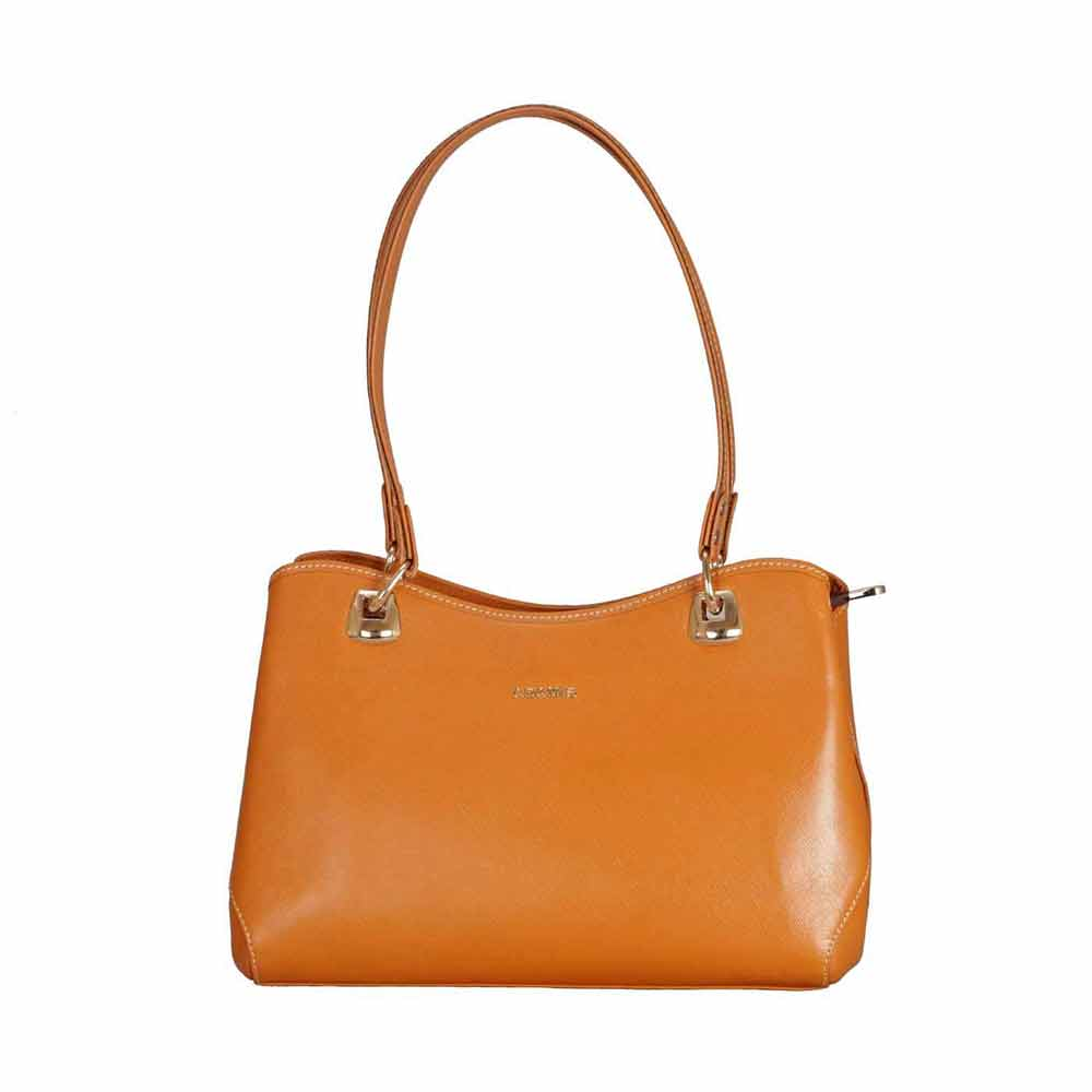 Adamis Tan Leather Shoulder Handbag