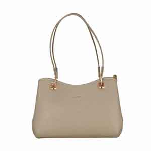 Shoulder Bags-Adamis Tope Leather Shoulder Handbag