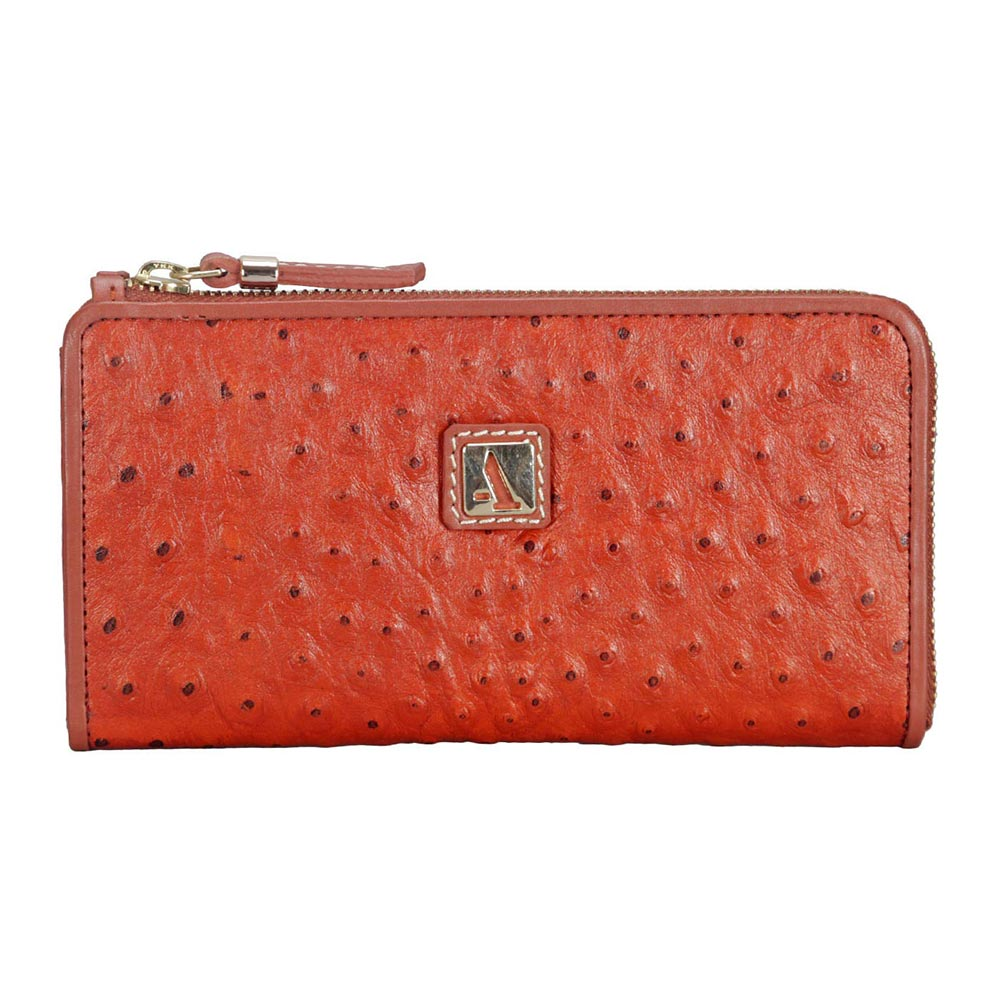 Adamis Orange Leather Womens Wallet
