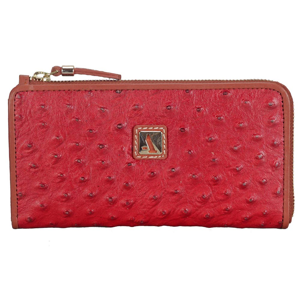 Adamis Red Leather Womens Wallet