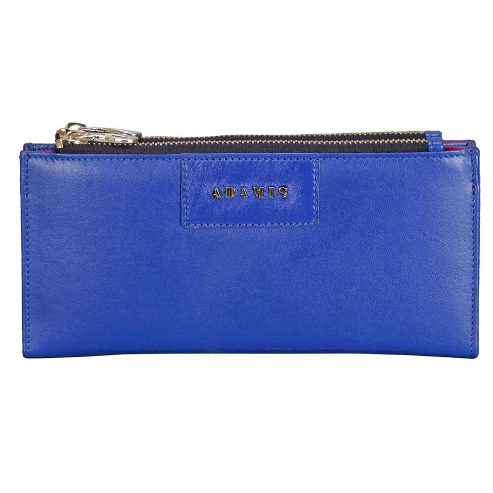 Adamis Blue Leather Womens Wallet