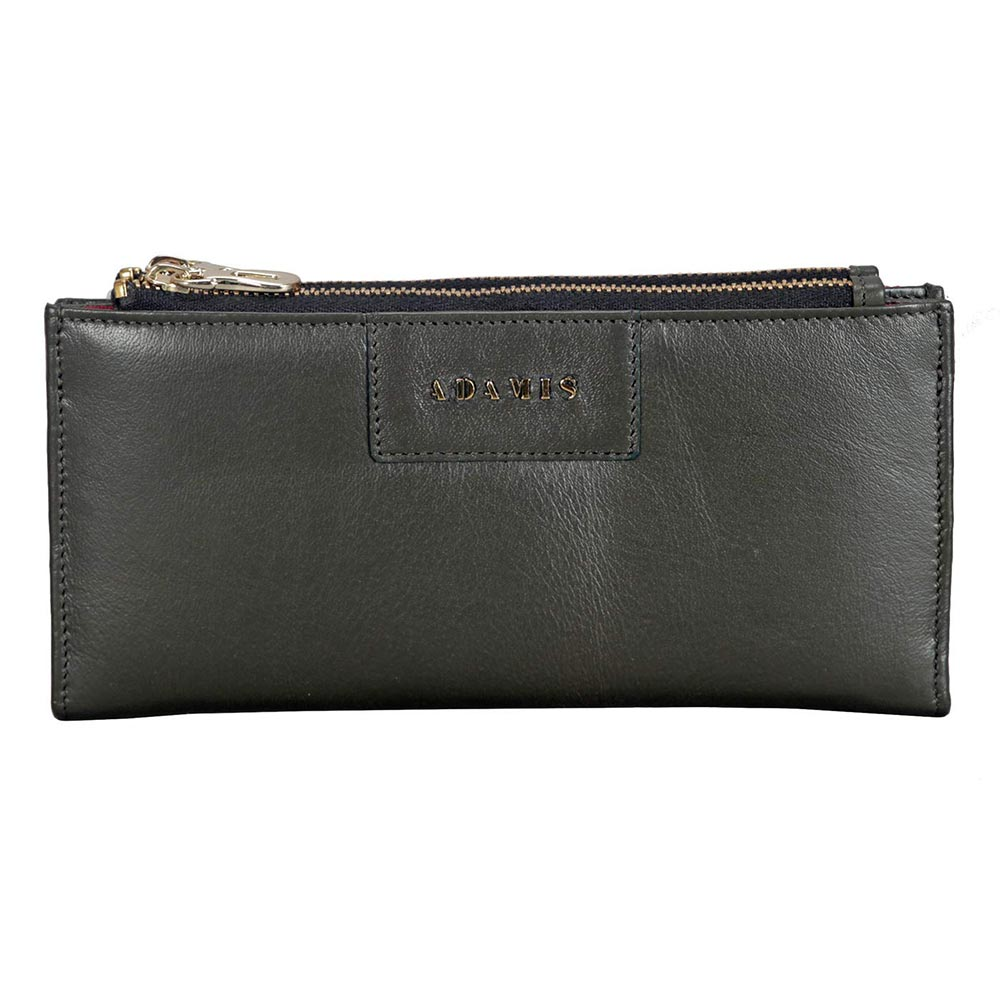 Adamis Green Leather Womens Wallet