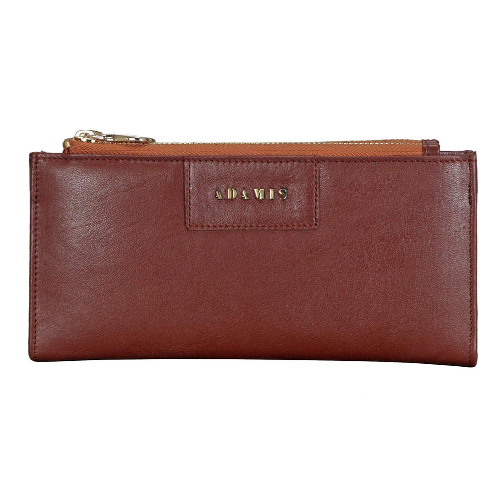 Adamis Tan Leather Womens Wallet