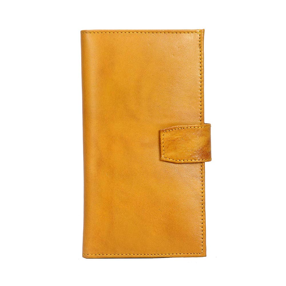 Adamis Yellow Leather Womens Wallet