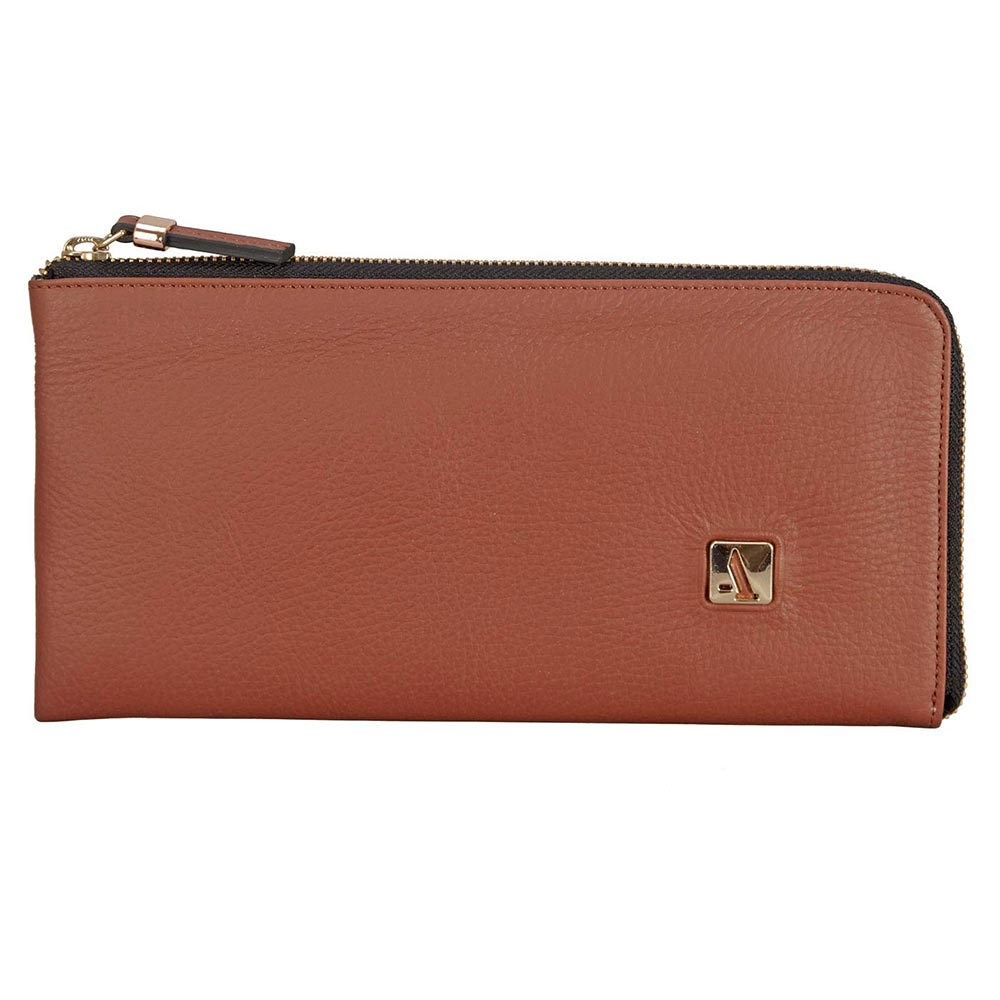 Adamis Brown Leather Womens Wallet