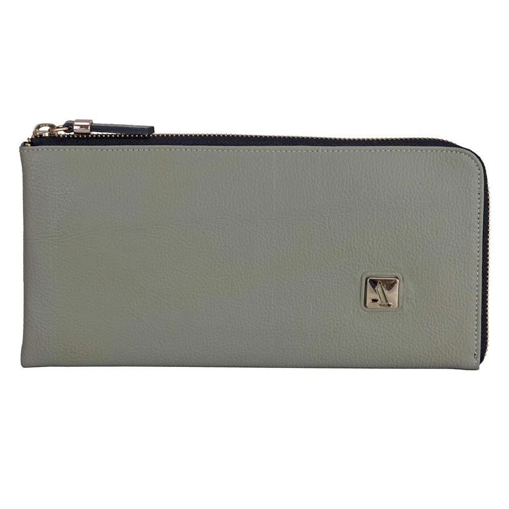Adamis Grey Leather Womens Wallet