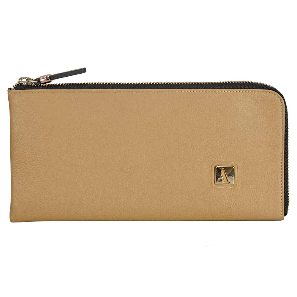 Adamis Taupe Leather Womens Wallet