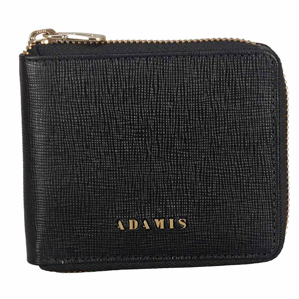 Adamis Black Leather Men wallet