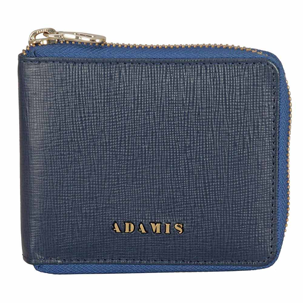 Adamis Blue Leather Men wallet