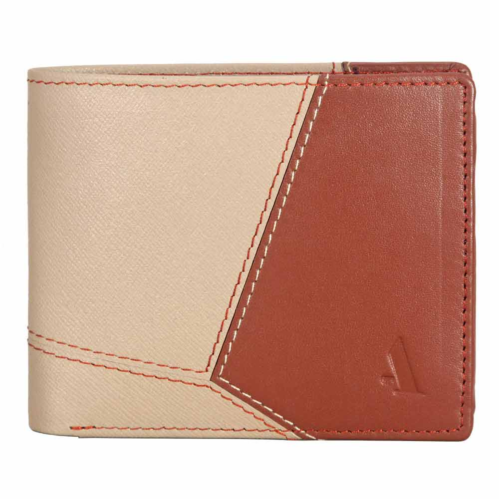 Adamis Taupe Leather Men wallet