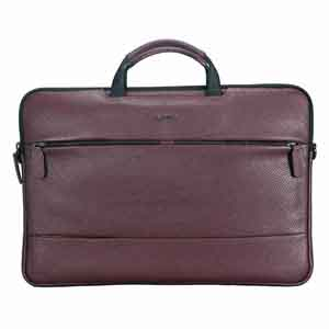 Office Bags-Adamis Wine Leather Men's Portfolio Cum Office Bag