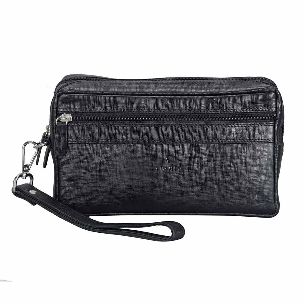 Adamis Black leather Gents pouches