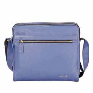 Travel Accessories-Adamis Blue leather Gents pouches