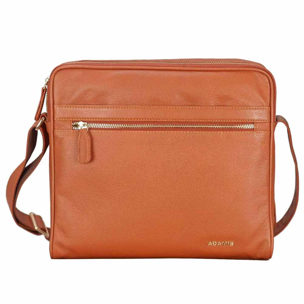 Adamis Tan leather Gents pouches