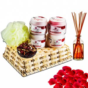 Beauty & Spa Hampers-Rose & Wine Gentle Facial Spa Hamper