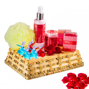 Beauty & Spa Hampers-Relaxing Rosy Shower Hamper