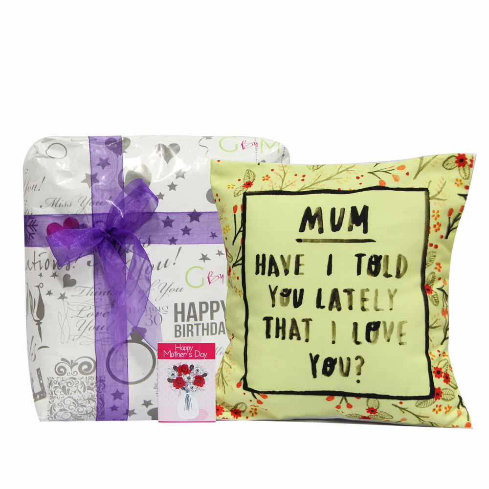 Personalized Gifts-Yellow Blooms Cushion
