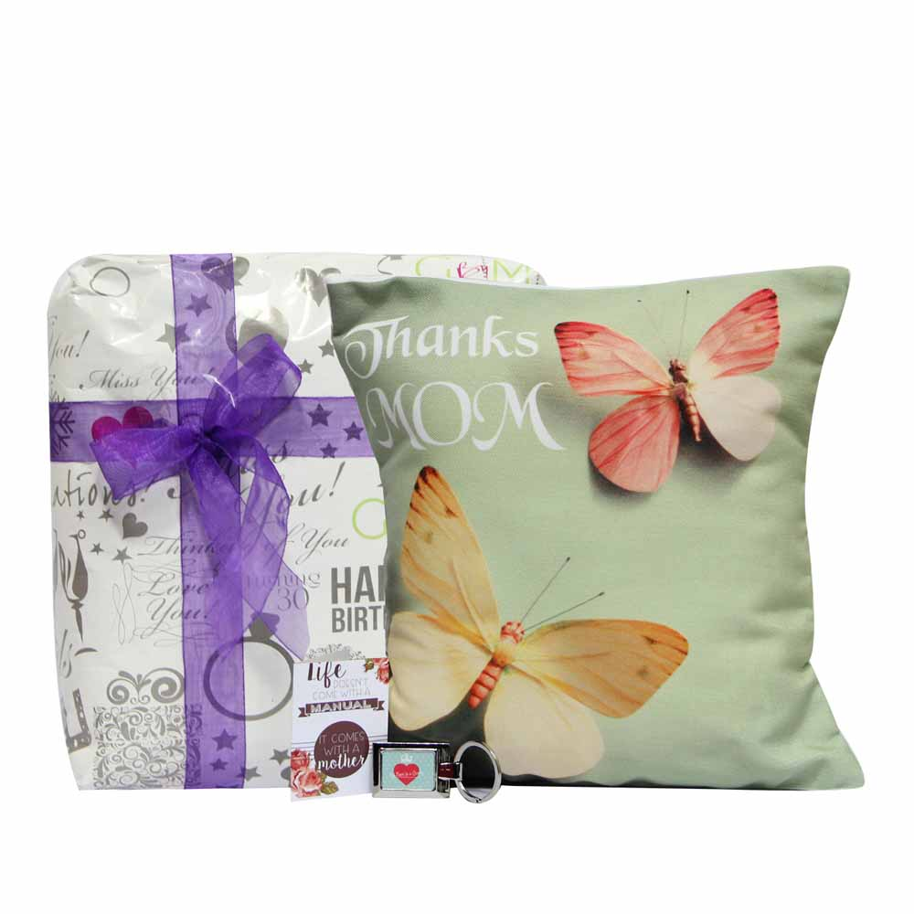 Personalized Gifts-Butterfly Cushion for Mom
