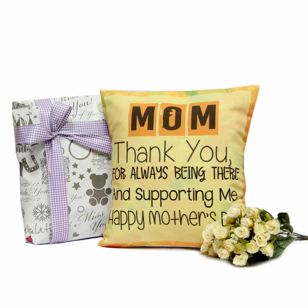 Personalized Gifts-Yellow Cushion For Mom