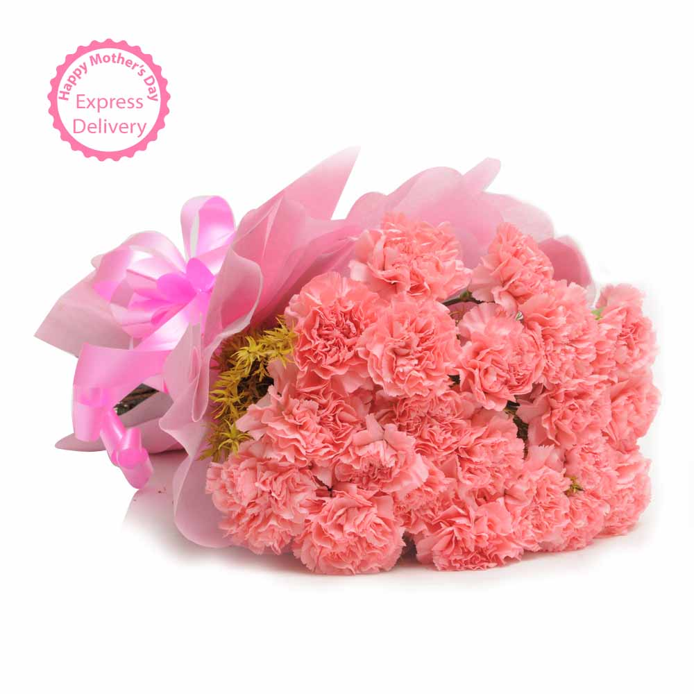 Designer Arrangements-15 Pink Carnations