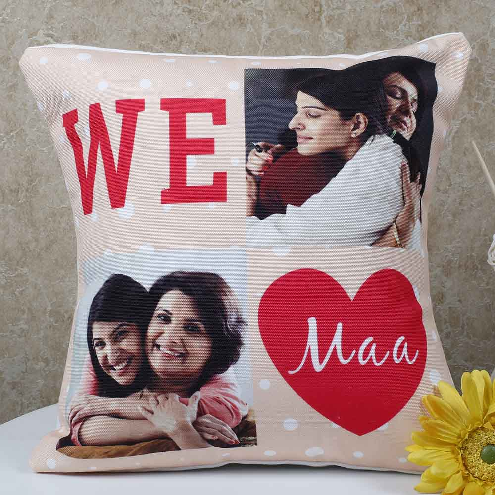 Personalized Gifts-Mothers Day Personalized Maa Cushion
