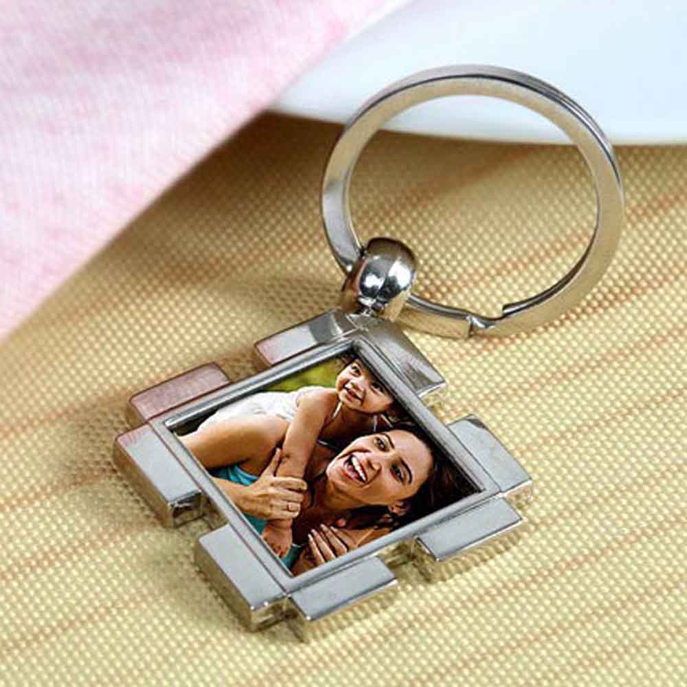 Mothers Day Happy Mom Personalized Keychain