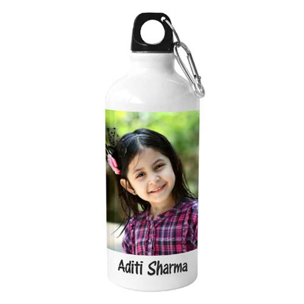 Water Bottle-White Personalised Sipper Bottle
