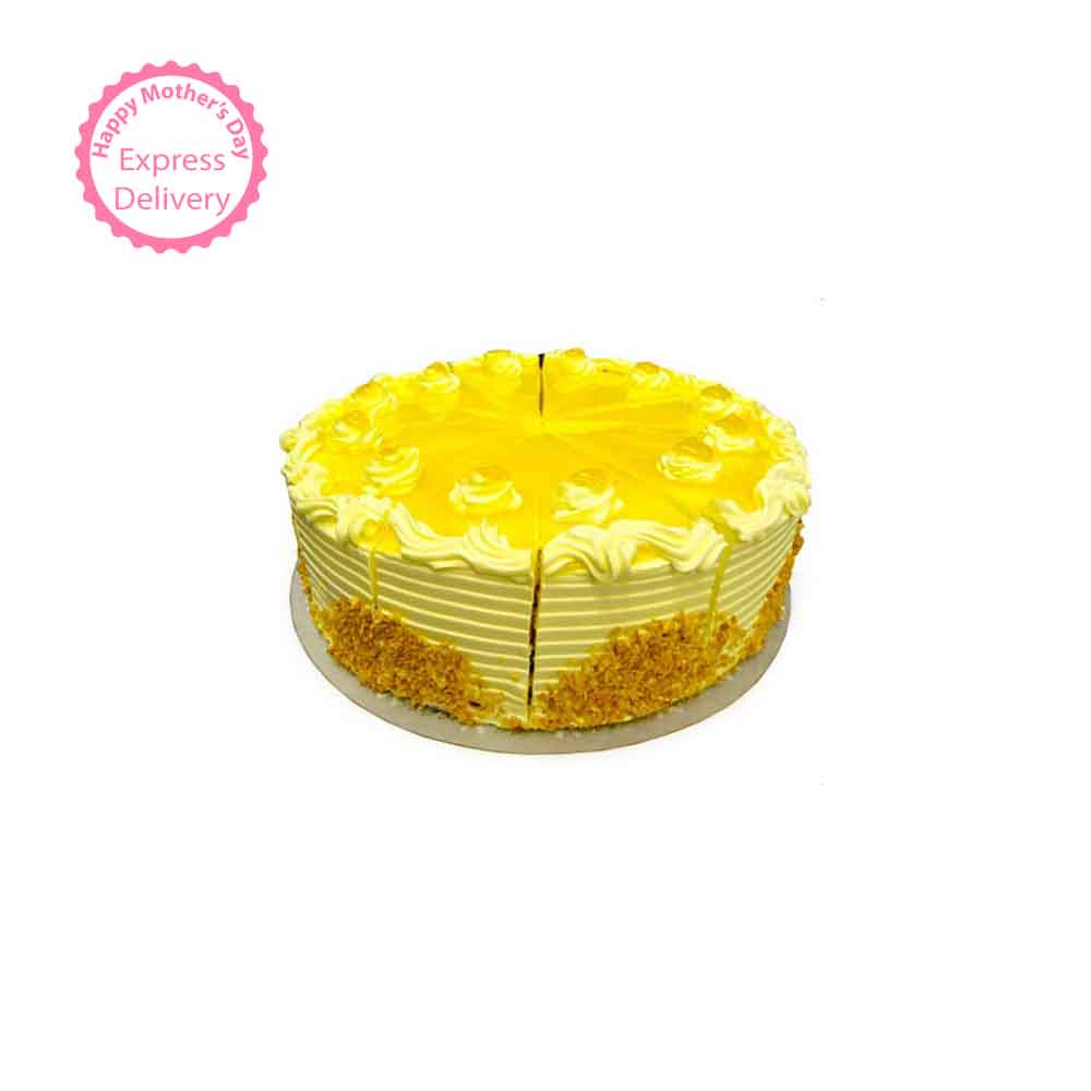 Exotic Pineapple Cake Half kg Eggless