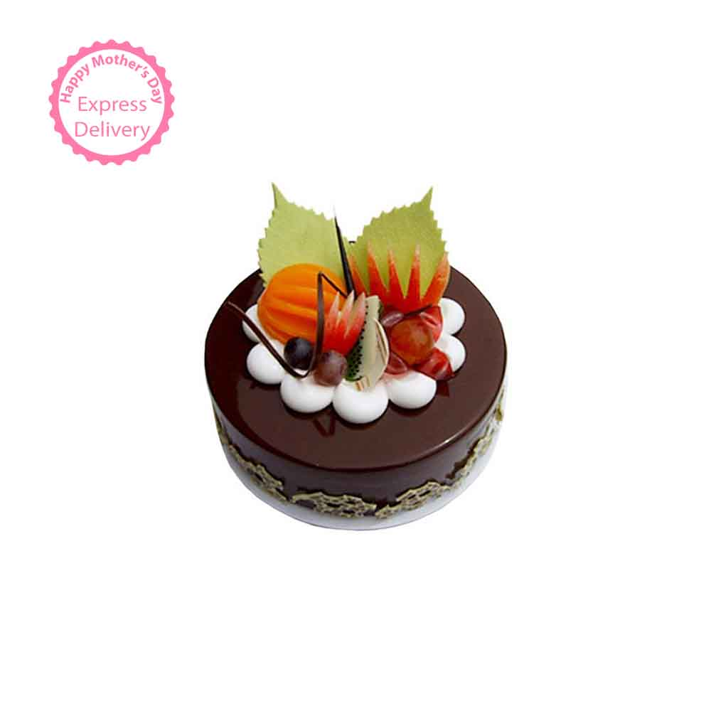 Fruit Chocolate Cake Half kg Eggless