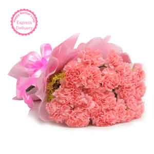 Fresh Flowers-Pink Carnations Passion Bouquet