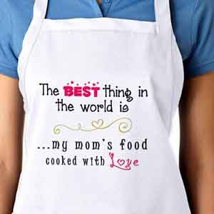 Personalized Gifts-Apron For My Moms Food With Love