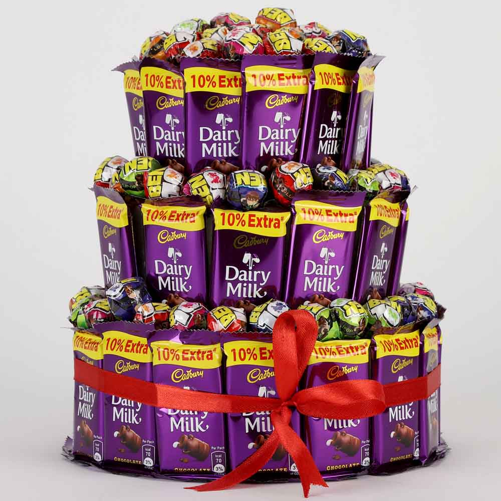 Chocolates & Cookies-3 Tier Choco Pop Cake