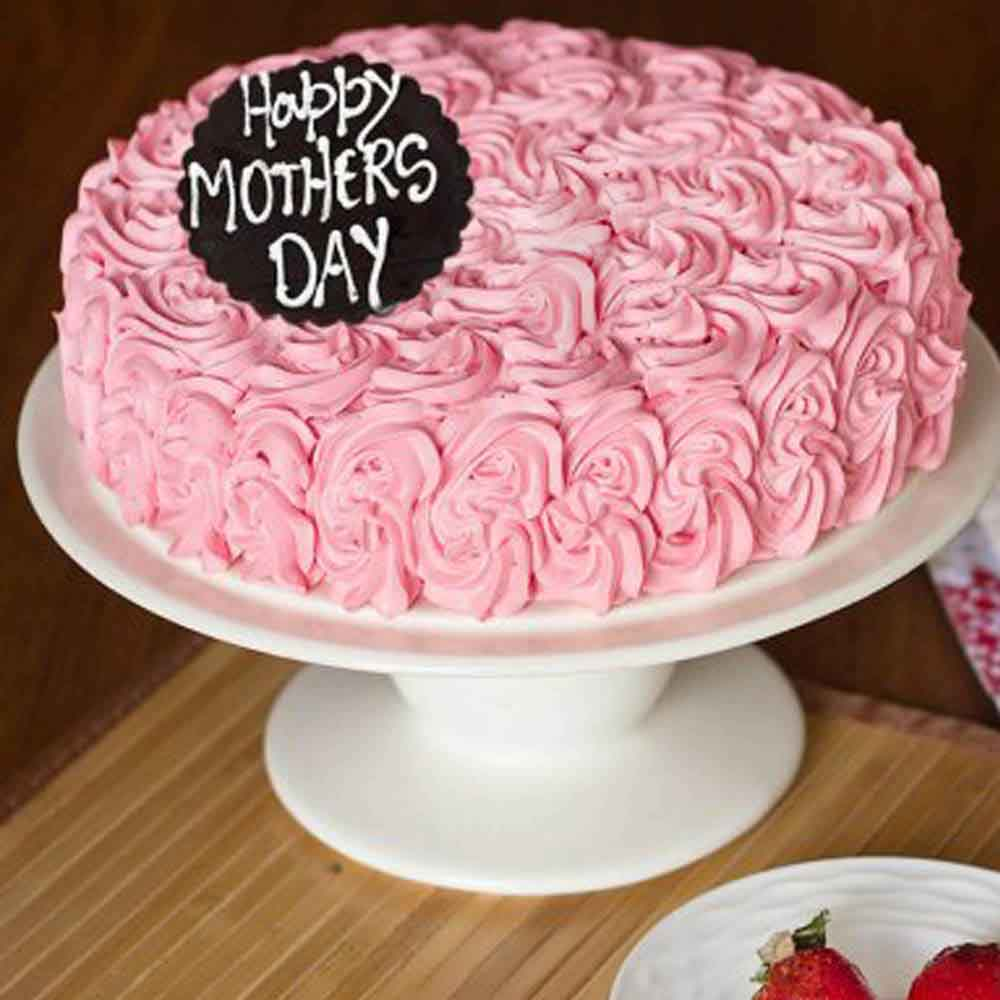 Mothers Day Special Strawberry Cake