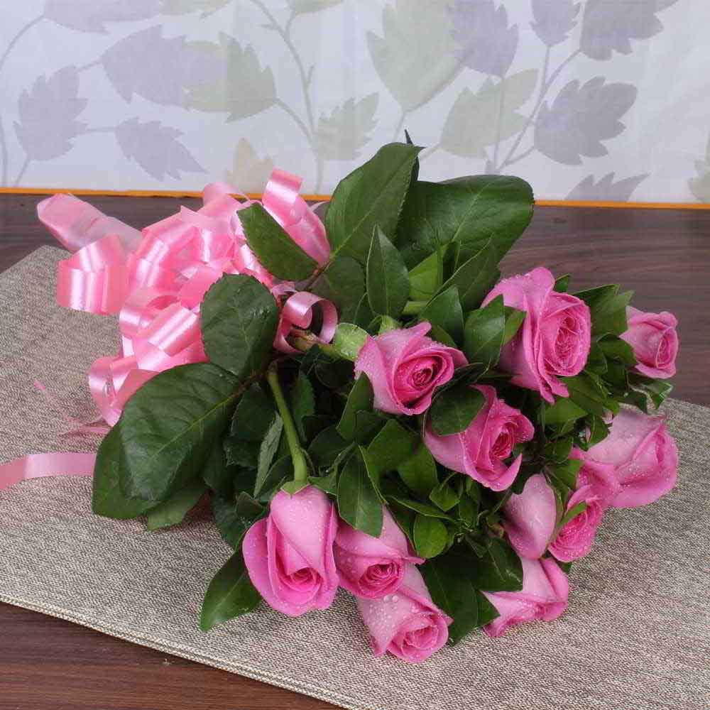 10 Pink Roses Bouquet for Mother