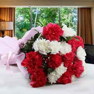 Fresh Flowers-Alluring Mothers Day Carnations Bouquet