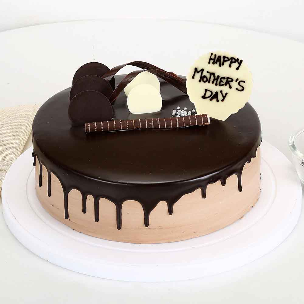 Eggless Mothers Day Chocolate Cake Half kg