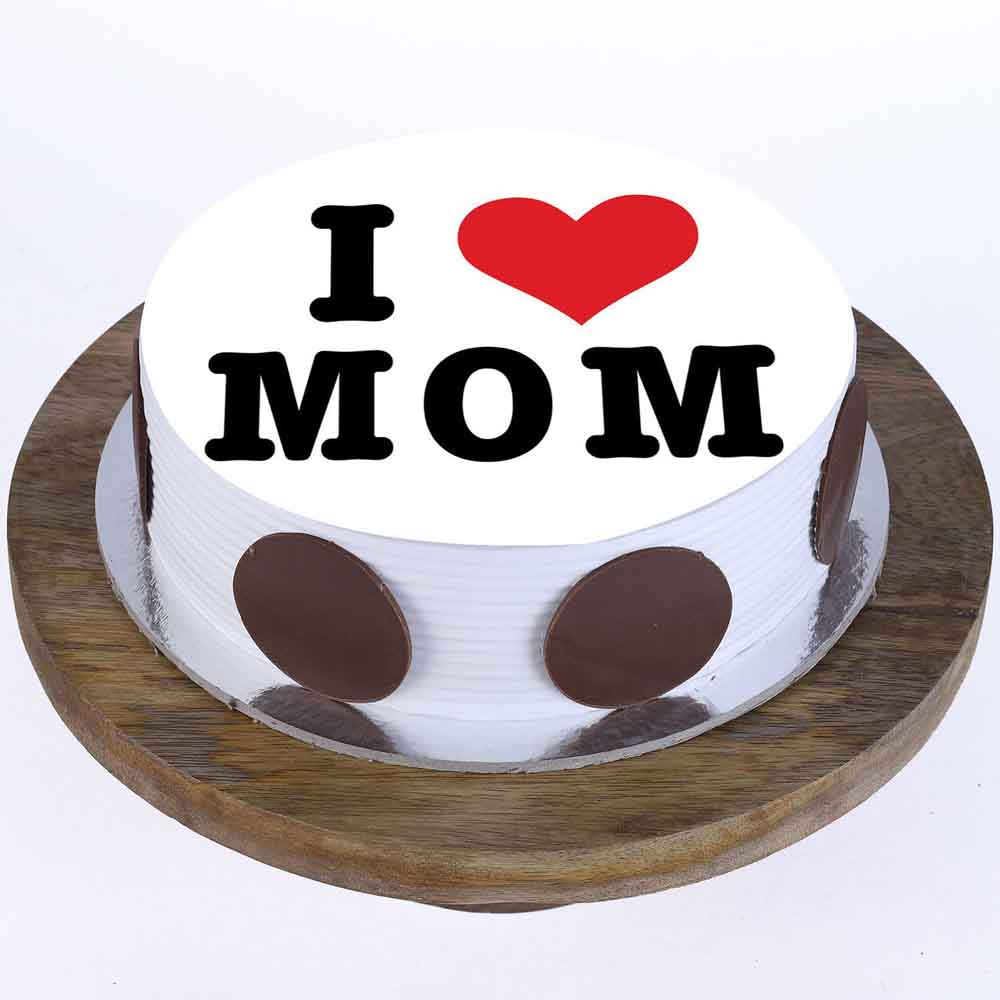 I Love Mom Pineapple Photo Cake 1 Kg