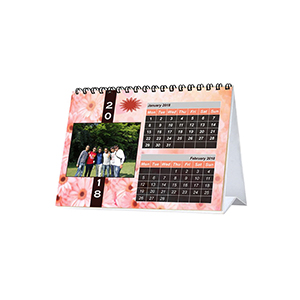 Calender-Personalized 6 Pages 6 x 8 Horizontal Table Calendar
