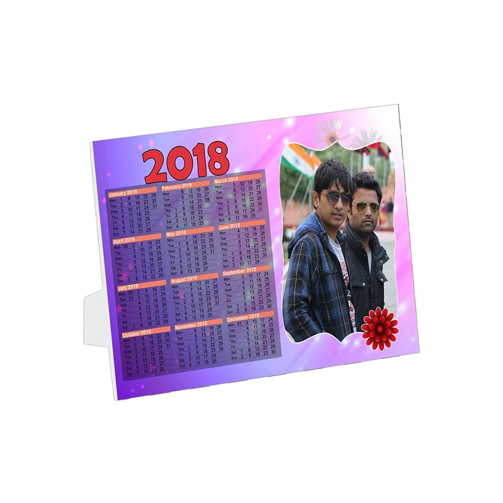 Personalized Single Photo Calendar Horizontal 1 Page