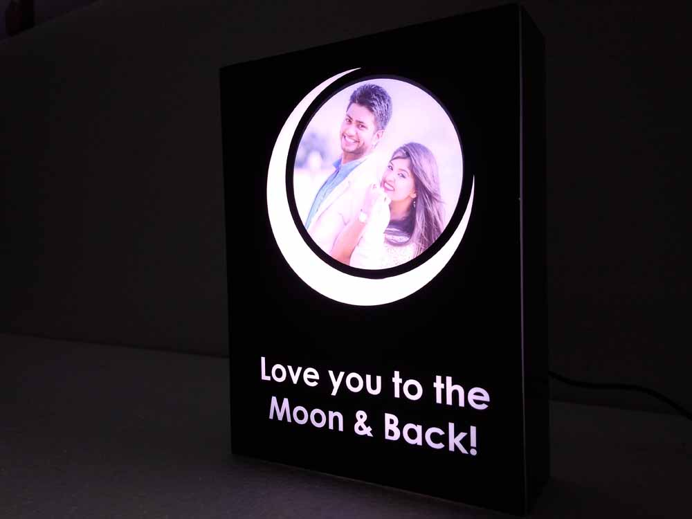 How much do you love me? - Personalized Lamp