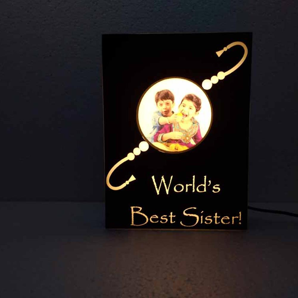 Dor -Personalized Rakhi Lamp with your caption