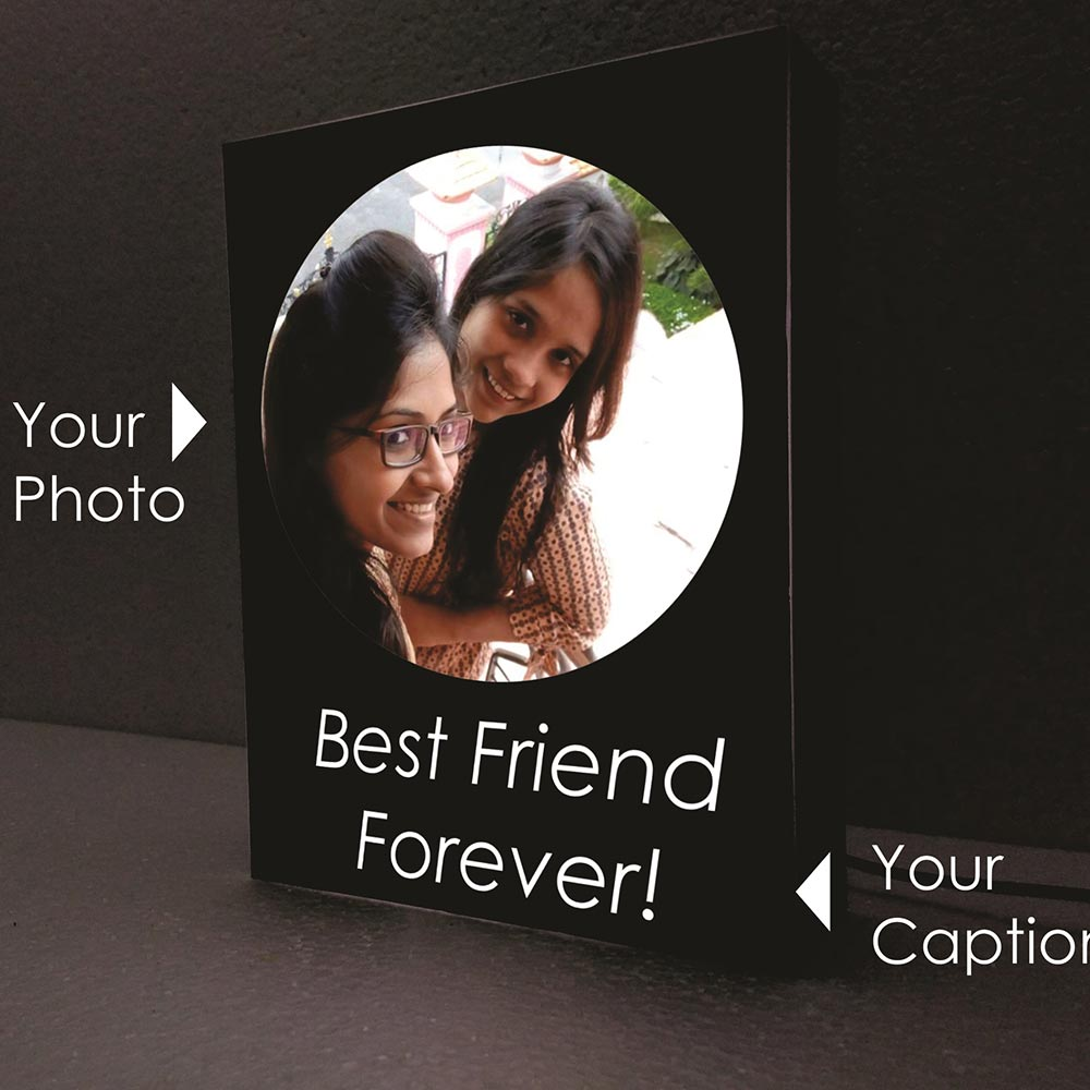 Canvas - Personalized Lamp with caption