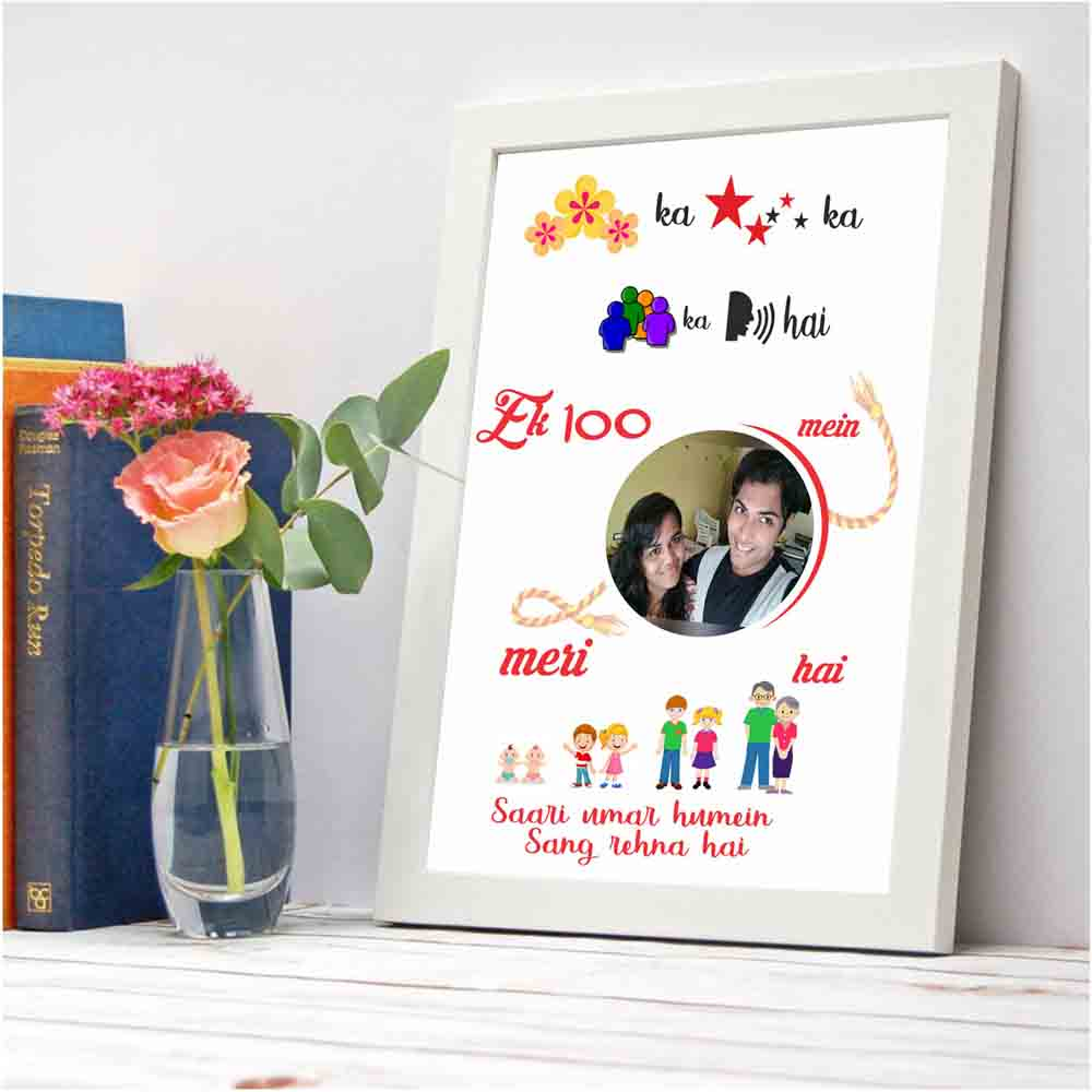 Ek hazaron me - Creative Personaloized Photo Frame for sisters