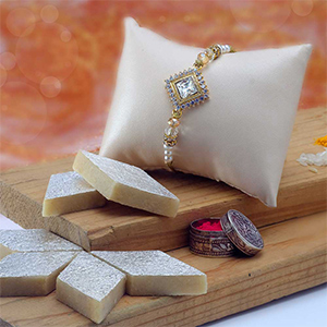 Assorted Mithai Boxes-Diamond stone with Diamonds all sides & Kaju Katli