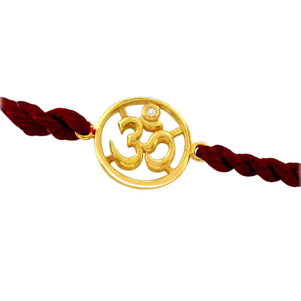 OM-Diamond and Gold Rakhi