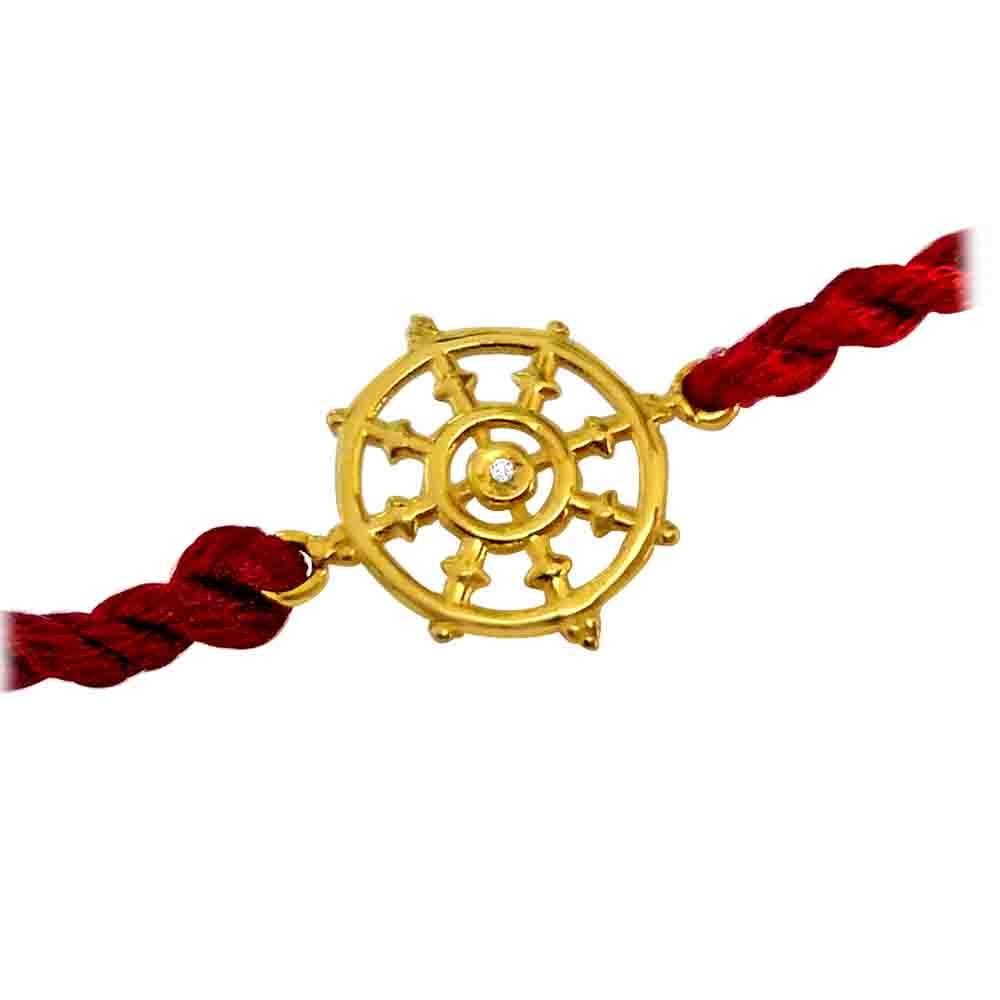 Dharma Chakra - Diamond and Gold Rakhi