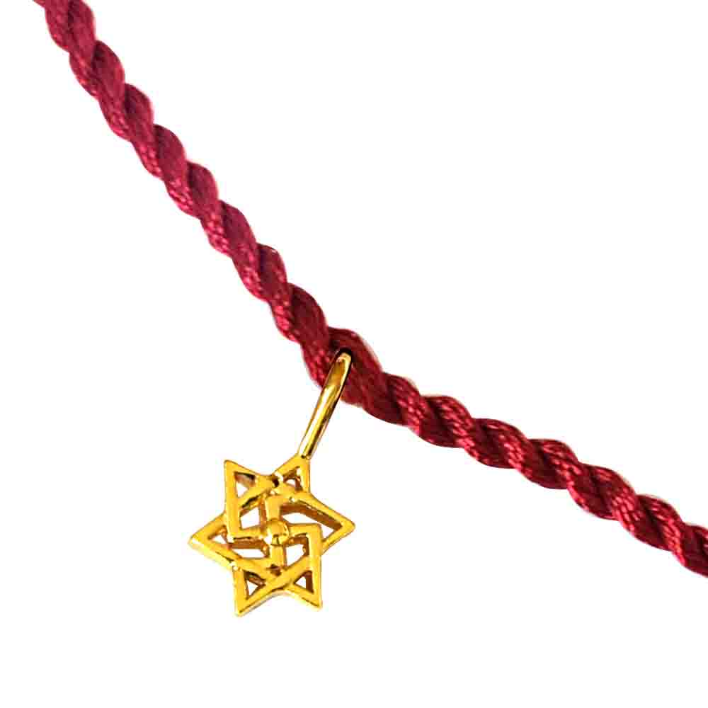 Shatkonam Swastik Gold Plated Sterling Silver Rakhi for Brothers SNSR8