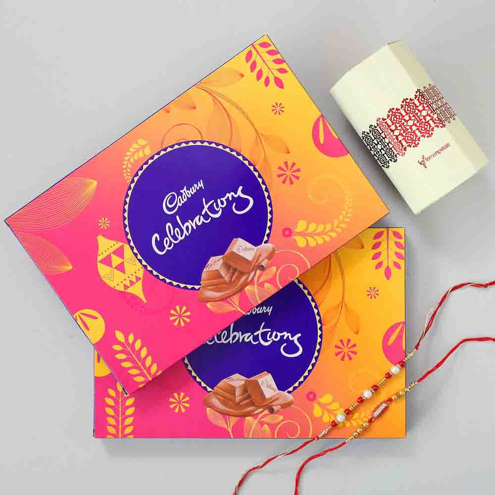 Celebrations Box & Fancy Rakhi Combo