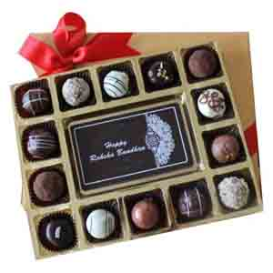 Chocolates & Cookies-Classic Chocolate Truffles in a Dream box of 12