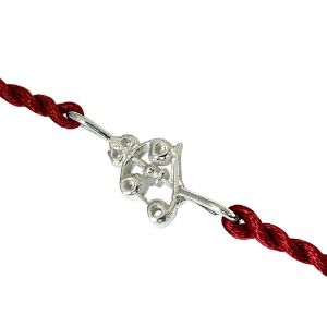 Royal Rakhi Collection-Trishul Shaped Sterling Silver Rakhi for Brothers